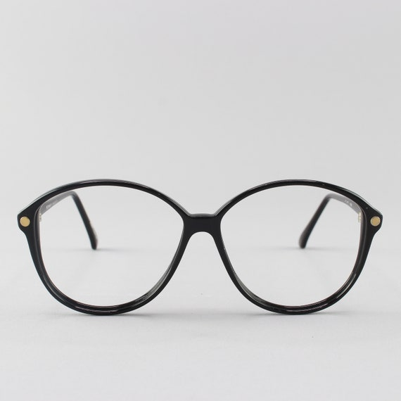 Vintage Eyeglasses | Round 80s Glasses | Black Eyeglass Frame | 1980s Aesthetic