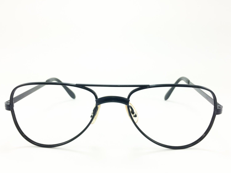Vintage Aviator Brille Matt-schwarz-1980er Jahre   Etsy
