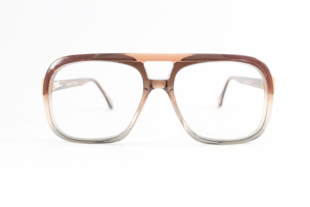 Vintage 80er Jahre Brille Klare braune Aviator   Etsy