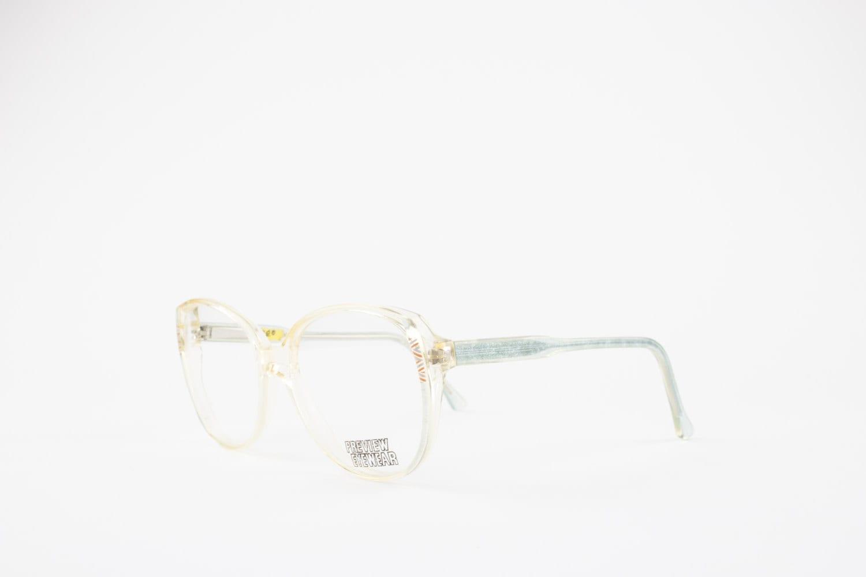 80s Vintage Glasses | Oversize Clear Eyeglass Frame | Sky Blue ...