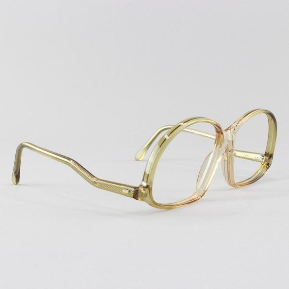 70s Glasses | Vintage Eyeglasses | Clear Green Glasses Frames | 1970s Aesthetic - M20-2