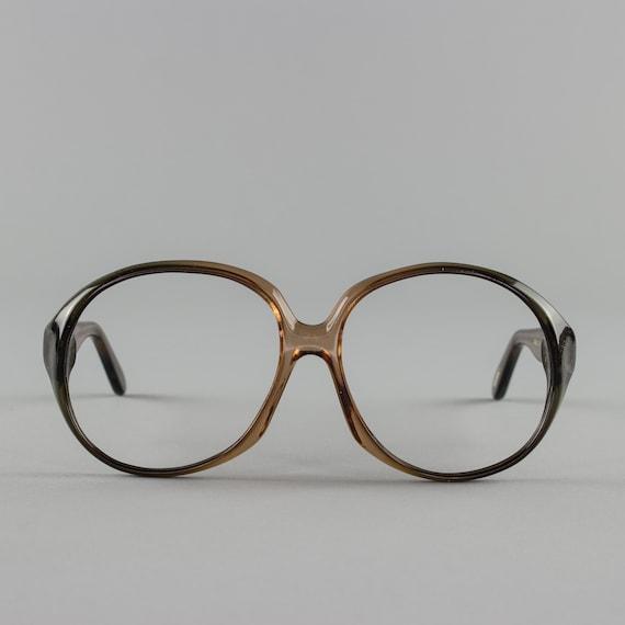 Vintage Glasses | Oversized Eyeglass Frame | Clear Eyeglasses - Atlanta Brown