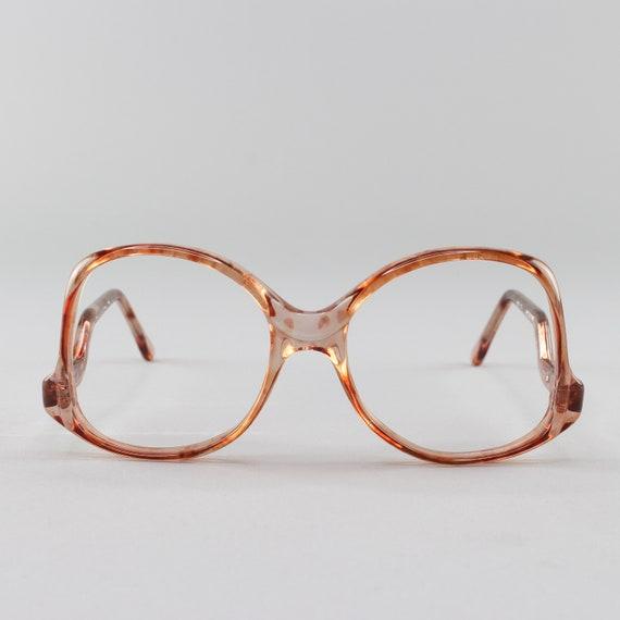 Vintage Eyeglasses | 80s Glasses | 1980s Eyeglass Frame | Round Oversized Glasses - Melbourne Havana