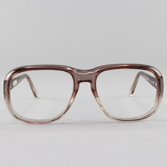 1970s Vintage Eyeglasses | Clear Gray 70s  Glasses | Eyeglass Frame | Deadstock Eyewear - Hanover Grey Fade