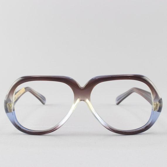 RESERVED - 70s Eyeglasses | Vintage Glasses | 1970s Aesthetic | Blue Eyeglass Frame - Quantas