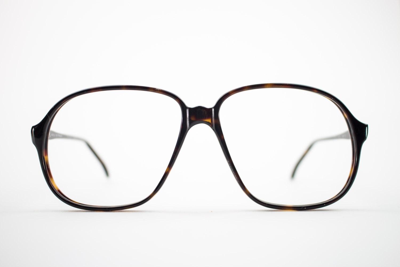 80er Jahre Vintage Brille Übergroße dunkel Schildpatt   Etsy