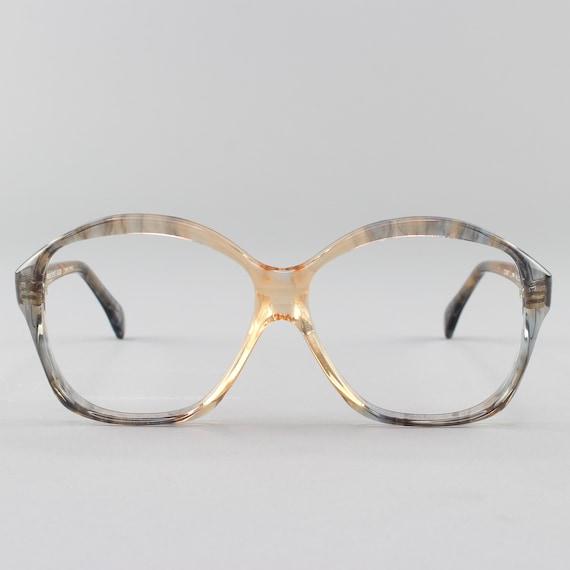 Vintage Eyeglasses | 80s Glasses | 1980s Oversized Round Eyeglass Frame | Deadstock Eyewear - Alida - 33003