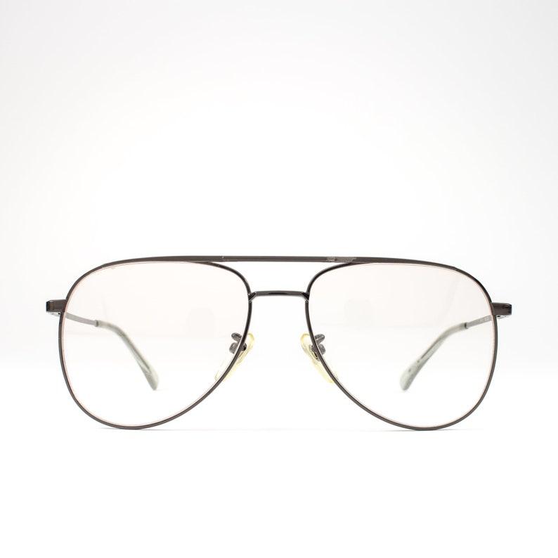 54c04511ea583 80s Vintage Aviator Glasses Black Eyeglasses 1980s Glasses