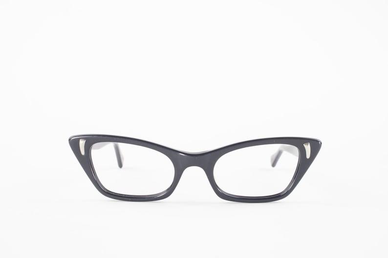 7a445f7a26 60s Vintage Cateye Eyeglasses 1960s Black Cat Eye Eyeglass