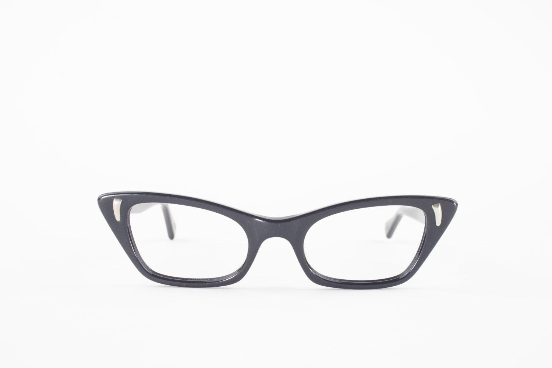 1f5875d72ef 60s Vintage Cateye Eyeglasses 1960s Black Cat Eye Eyeglass