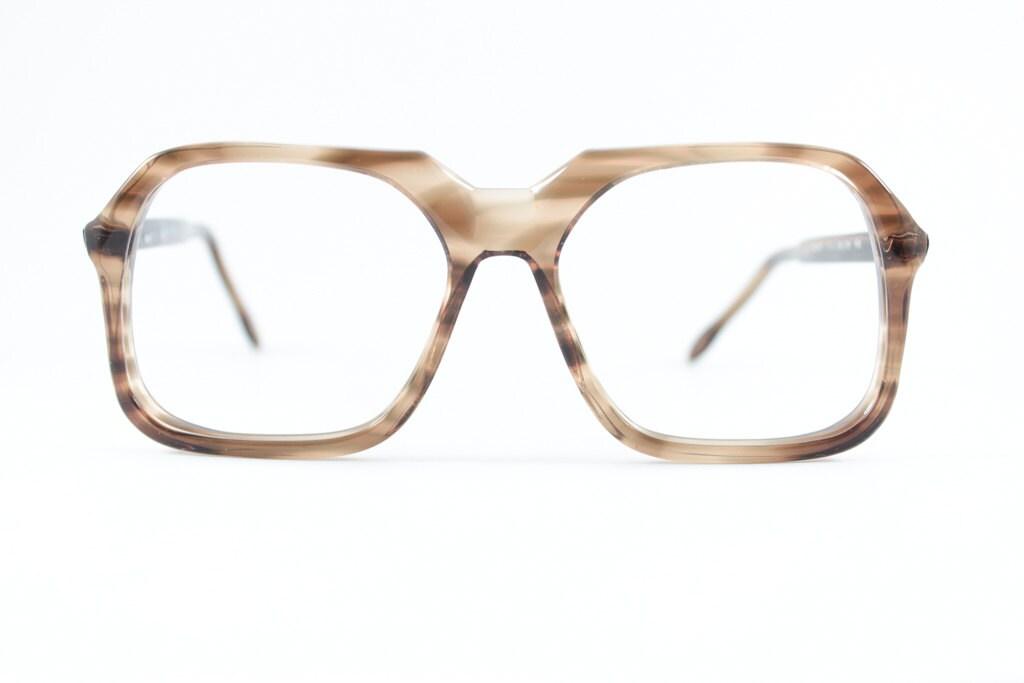 Vintage 70er Jahre Brillengestell Klar rauchig braun   Etsy