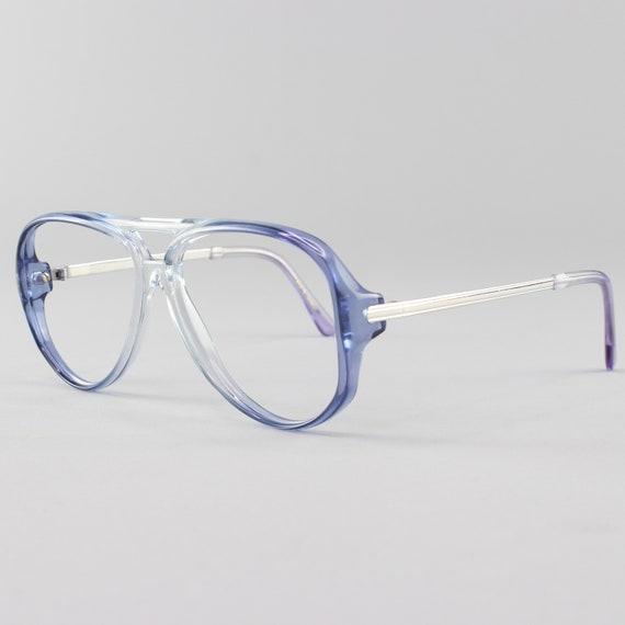80s Vintage GlassesClear Blue Eyeglass Frame1980s  Aviator Eyeglasses