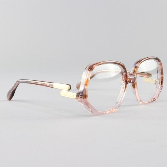 Vintage 70s Glasses | Clear Tortoiseshell Round Eyeglass Frame | 1970s Eyeglasses | Deadstock Eyewear - Colossal Caviar