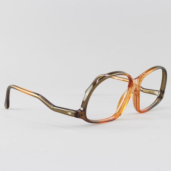 Vintage Eyeglasses | 70s Glasses | Clear Brown Glasses Frames | 1970s Aesthetic - M20-1