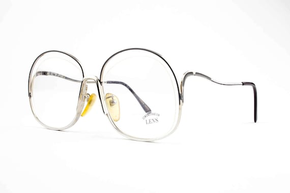 cd4ca07b9c Vintage 70s Eyeglasses Oversized Round Glasses NOS 1970s