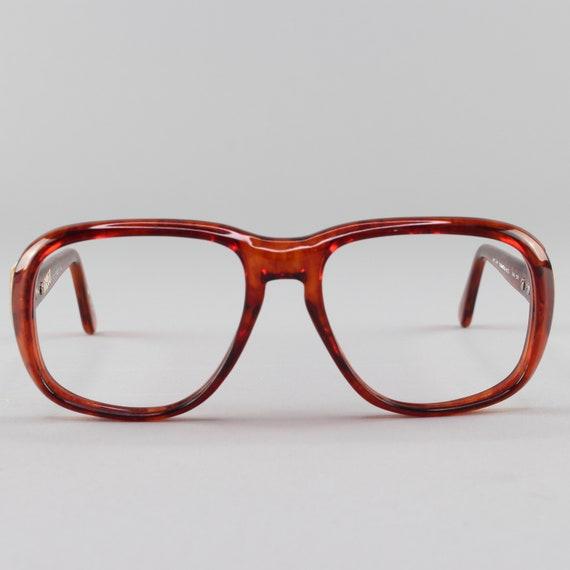 70s Vintage Eyeglass Frame | Clear Tortoiseshell Glasses | 1970s Eyeglasses | Deadstock Eyewear - Hanover Demi-Amber