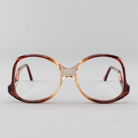 Vintage Eyeglasses | 80s Glasses | 1980s Eyeglass Frame | Round Oversized Glasses - Melbourne 23