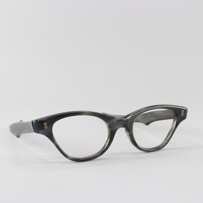 Vintage Victory Optical Eyeglasses 1950s glassesFrames EyeglassesHipsterArnel styleGeek Grey Tone New Old Stock
