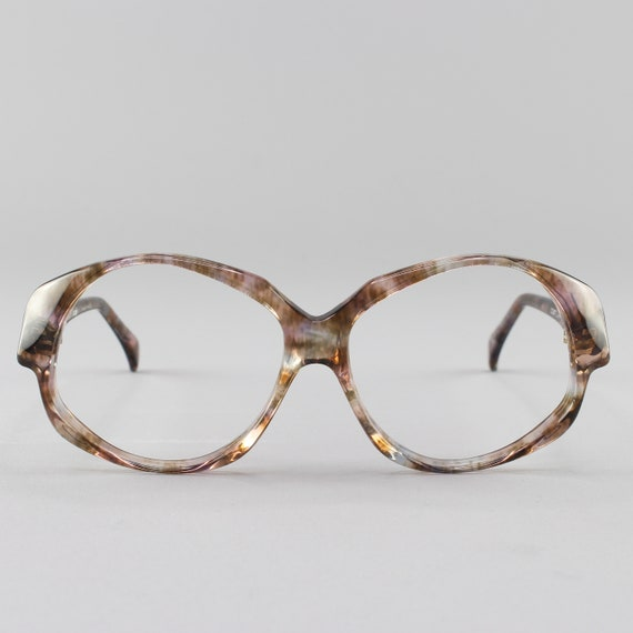 Vintage Eyeglasses | Clear Oversized 80s Glasses | 1980s Aesthetic Eyeglass Frame - Odile Olea