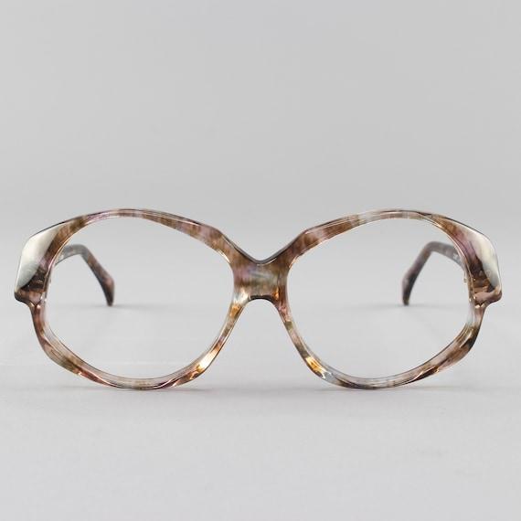 Vintage Eyeglasses | Clear Oversized 80s Glasses | 1980s Aesthetic Eyeglass Frame - Odile Olea
