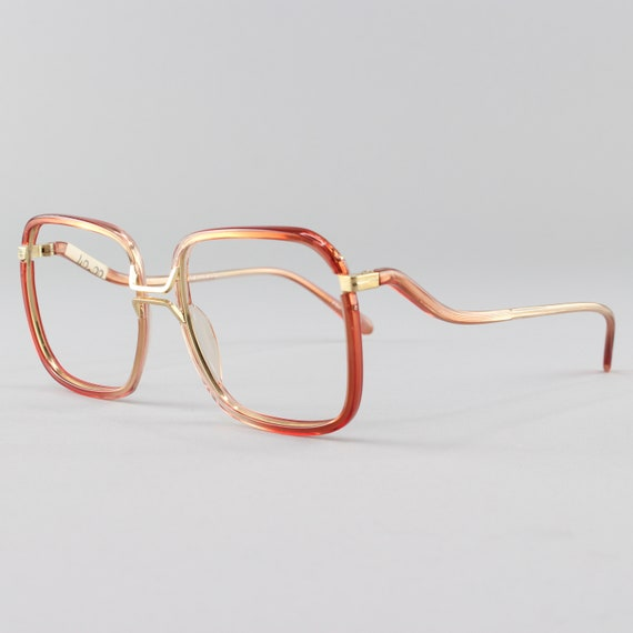 1970s Vintage Glasses | 70s Eyeglass Frame| Brown Square Eyeglasses | Deadstock Eyewear - Fall Brown