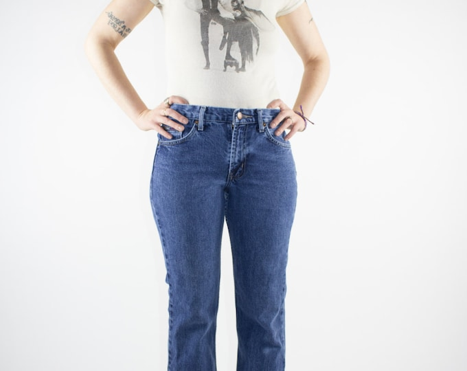 Vintage Jeans | 90s Low Rise Flare Denim | 90s does 70s Bell Bottom