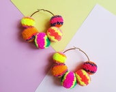 Big Rainbow Earrings - Gold or Silver Plated Hardware