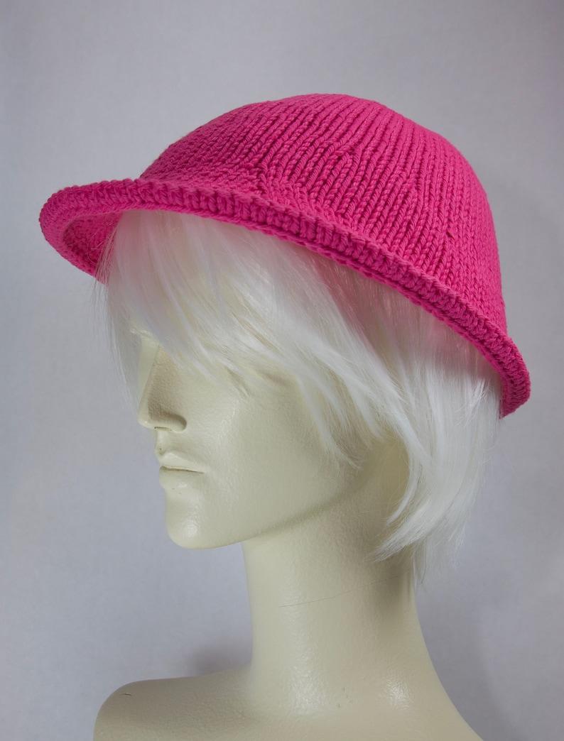 Beachton Cotton Cloche Pink Size Small Cream