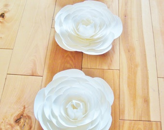 3 - 6 Inch Paper Flower Ranunculus - Paper Flowers | Paper Flower Wall | Paper Roses | Paper Ranunculus | Paper Flower Ranunculus