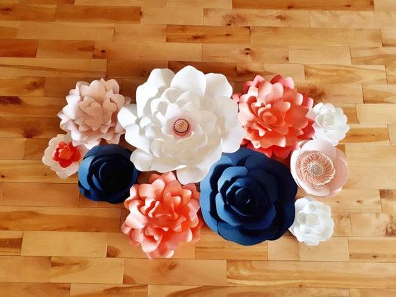 Paper Flowers Set Of 10 Baby Nursery Decor Paper Flower Etsy