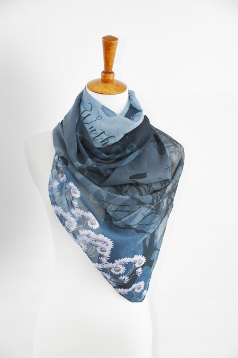 Moby Dick Book Scarf Herman Melville Literary Scarf