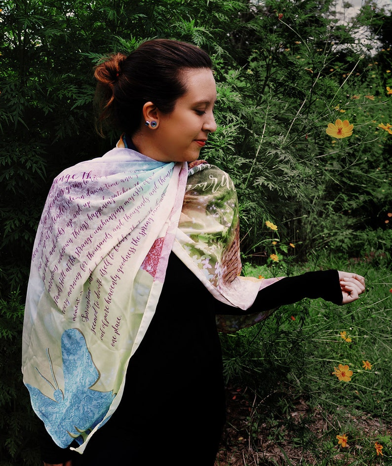 250c5c2653aa The Secret Garden Book Scarf Mother s Day Literary Gifts