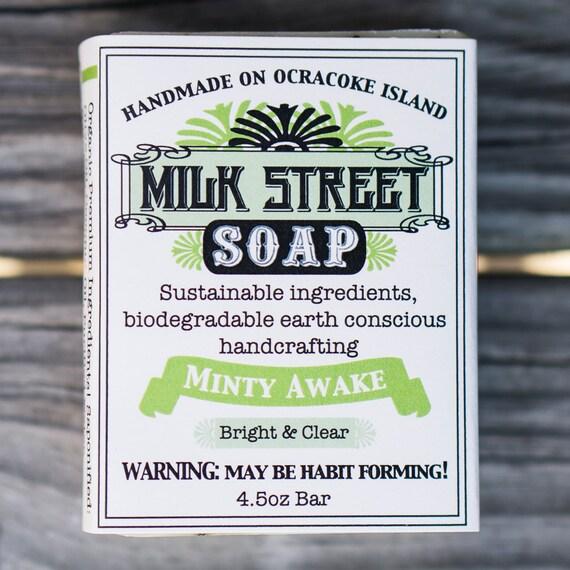Mint Soap - Minty Awake - Vegan Soap - Gift for Men - Olive Oil Soap