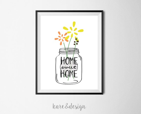 graphic regarding Mason Jar Printable titled Household Lovable Dwelling Mason Jar Printable Artwork, Immediate Down load, Rustic Artwork, Wall Artwork Decor, typography Print, Poster, Bouquets, Dwelling Adorable Property