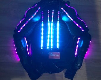 Light up masks sound reactive led light fashion store by huboptic led jacket customization hoodie led clothing props light up robot costume stilt dancer for gigs dj rave glow party cosplay led wear solutioingenieria Image collections
