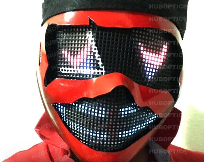 Featured listing image: HUBOPTIC® Cyber Robot Mask - DJ Mask LED Mask Props Light Up Mask Costume for  Gigs Helmet Rave Ai Cosplay Cyborg Party Joker Mask Bot Head