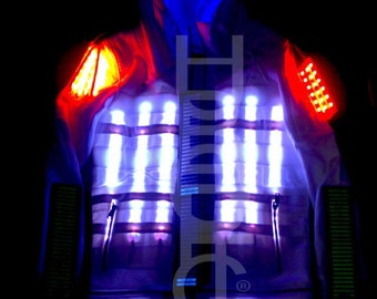 Light up masks sound reactive led light fashion store by huboptic custom hoodie led clothing white jacket jpfx39 robot costume stilt dancer for gigs dj rave glow party cosplay led wear light suit customized solutioingenieria Image collections