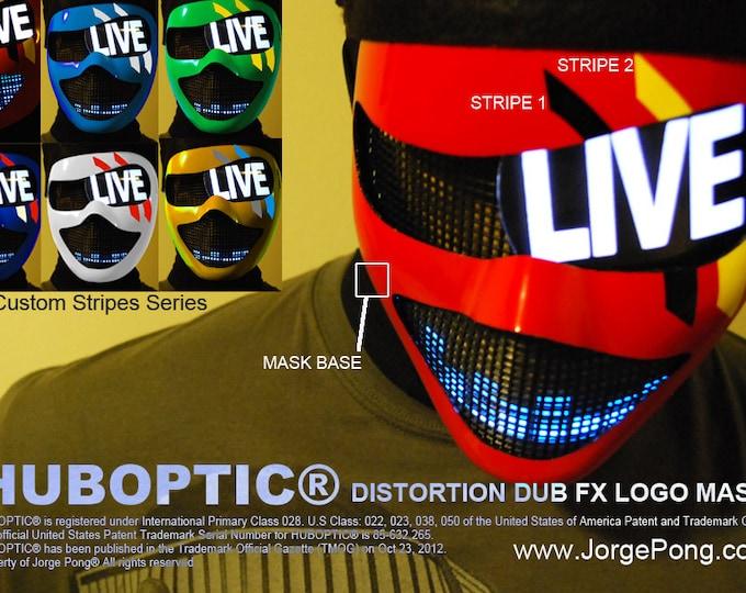 Featured listing image: HUBOPTIC® Cyborg Dub-Logo Fx Mask Sound Reactive Mask Light Up Mask Scifi Robot Costume Glow Cosplay Edm Costume Helmet DJ Gig Rave Mask