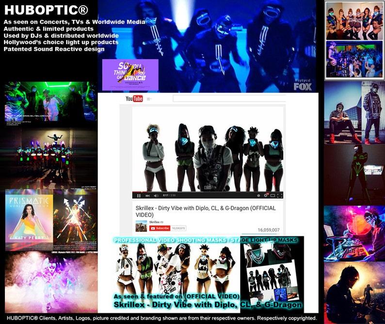 HUBOPTIC\u00ae Ace of Hearts Jp1 Patch Original Sound Reactive Poker Black Heart Cosplay Patch Urban Fashion Love Corazon Cyber Robot Costume