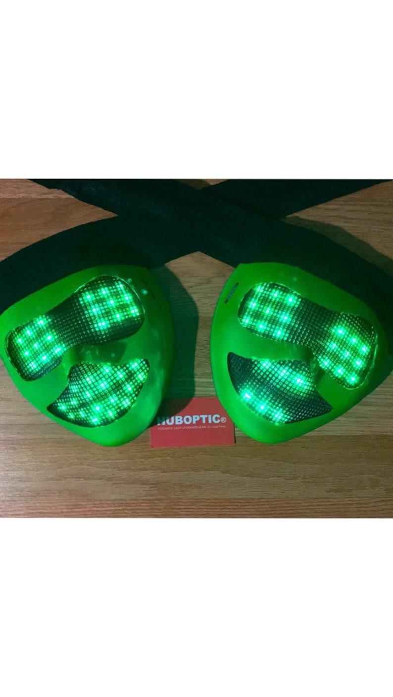 Smiley Mask Robot Mask Sound Reactive Light Up Mask LED Mask for Dj Gigs Cosplay Costume Cyberpunk Head Comic Led Props Mech Mask Rave Mask