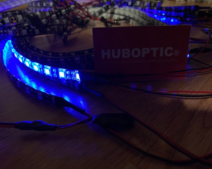 Featured listing image: HUBOPTIC® Cosplay LED Strip Lights Steady On for Gigs Theatrical Projects Party Costume Art Decorations Gogo Dancer Robot Helmet Clothing