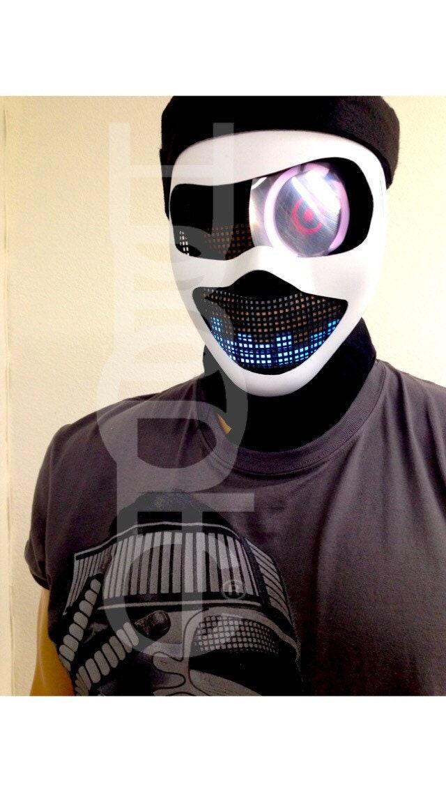 Custom Talking Robot Mask LED Logo Light Up Props Stage ...