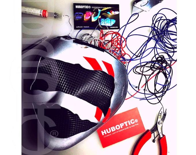 Featured listing image: Personalized LED Mask Custom Sound Reactive Mask HUBOPTIC® Robot Mask Light Up Cyborg Stage Mask Rave Costume Ai Cyber Cosplay Dance Mask