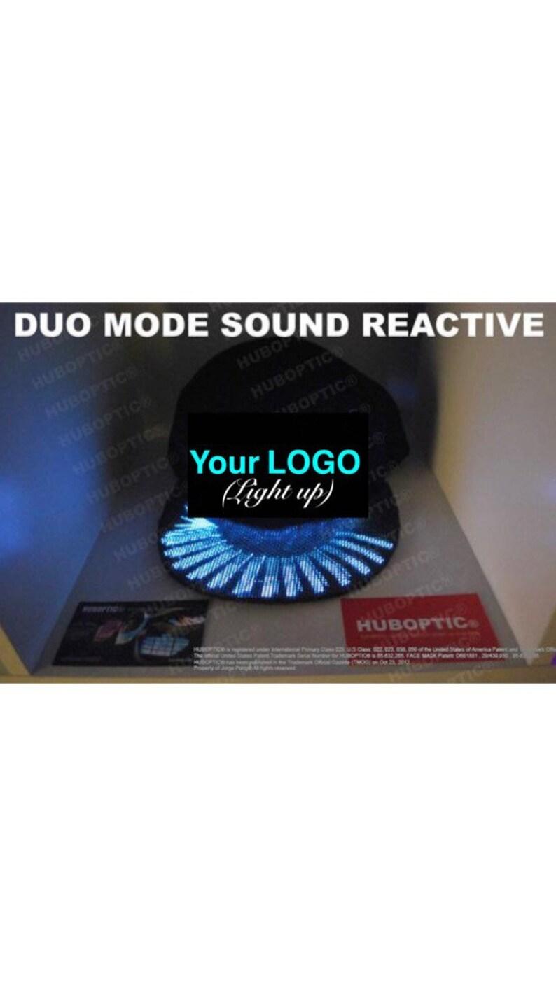 3bd524d9e24 Custom Snapback Light Up Cap DJ Hat Customized Logo Graphic