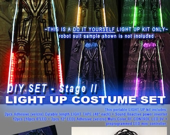 Sound reactive led lighting for dancer shoes sneakers tops light up costume led robot costume kit stage2 diy for future ai light up upgrade sound reactive cyborg rave edc wear cyber edm led cosplay solutioingenieria Gallery
