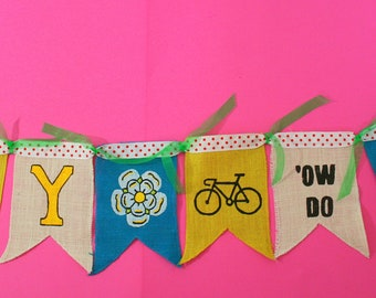 Yorkshire Bunting Garland Decoration Tour de Yorkshire Tour de France