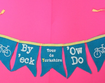 Yorkshire Bunting Garland Tour de Yorkshire decoration