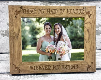 Personalised Thank You For Being My Bridesmaid Gift Keepsake Photo Picture Frame 6x45x78x610x8 Print
