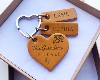 Personalized Grandma Gift for Grandma Grandma Name Grams Opa Yaya Nana Nanny Grandma Mothers Day Gift Grandma Birthday Grandma Christmas GMA-NAMES-KEYCHAIN