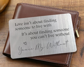 Personalised Gift For Him//Her Quarantine Lock down I Miss You Wallet Card